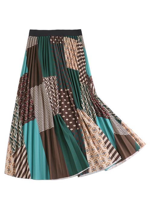Chân váy xếp ly Vintage dáng dài chất không nhăn VAY35 phối nhiều màu (Free size) 8