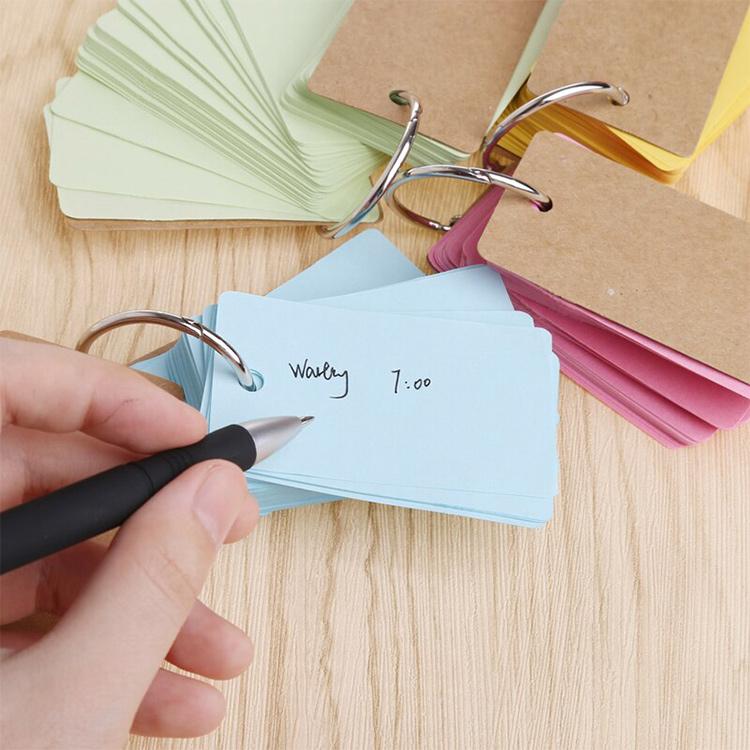 Bộ Thẻ Flashcard 80 Tờ Ghi Nhớ Học Từ Vựng Ngoại Ngữ - Màu Hồng