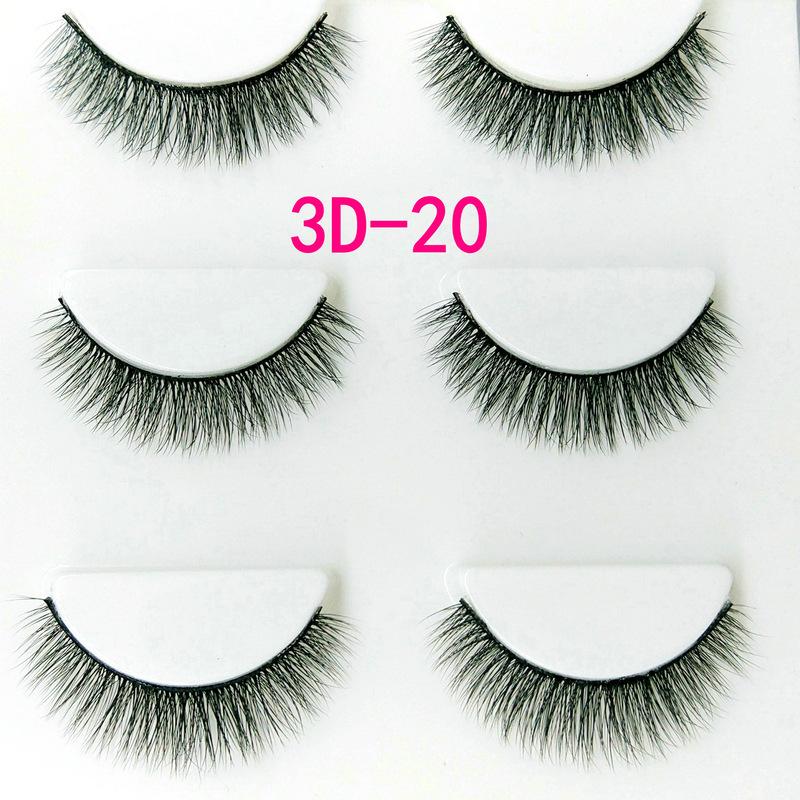 Lông mi giả lông chồn 3 Fashion Eyelashes 3 Faux-Cils 3D 1 bộ 3 cặp 78