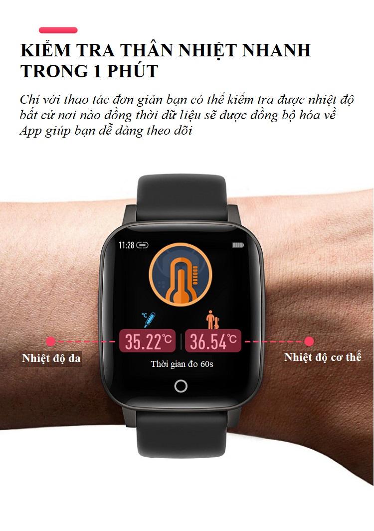 Đồng hồ theo dõi sức khỏe đa năng T_1_Q - Đồng hồ thông minh 7