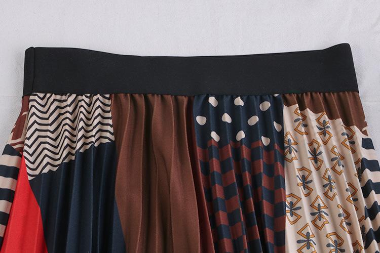 Chân váy xếp ly Vintage dáng dài chất không nhăn VAY35 phối nhiều màu (Free size) 4