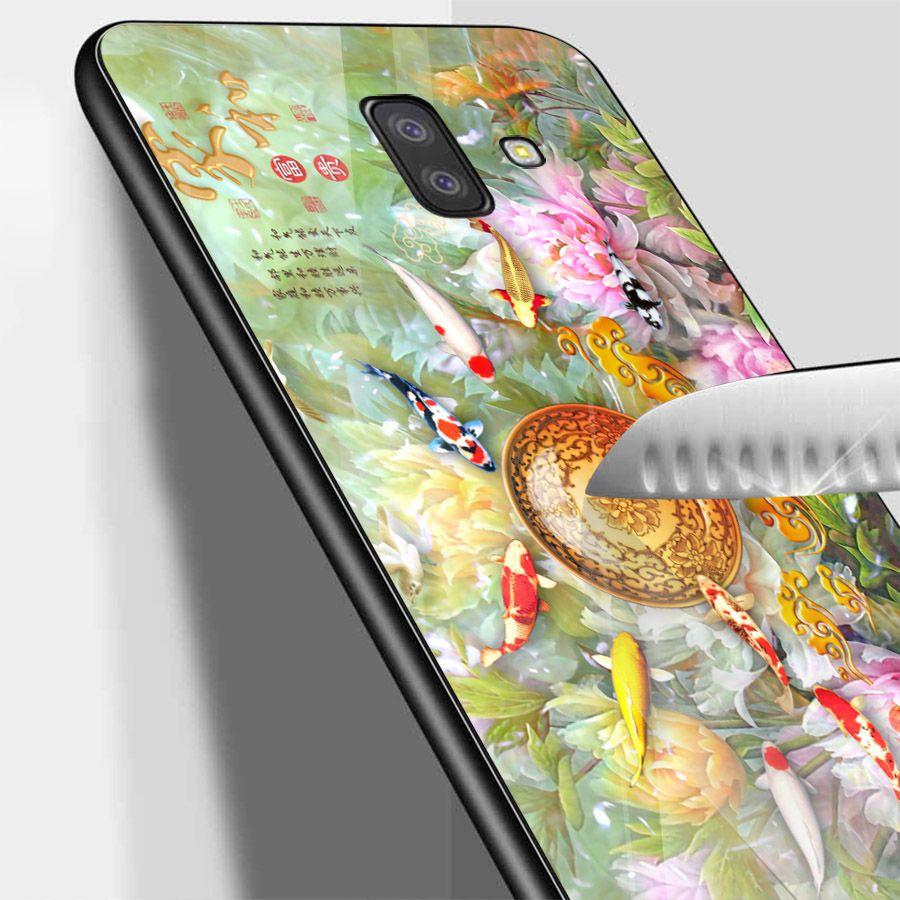 Ốp kính cường lực cho điện thoại Samsung Galaxy J4 - J6 - J6 PLUS - J6 PRIME - J8 - cá chép MS CA005