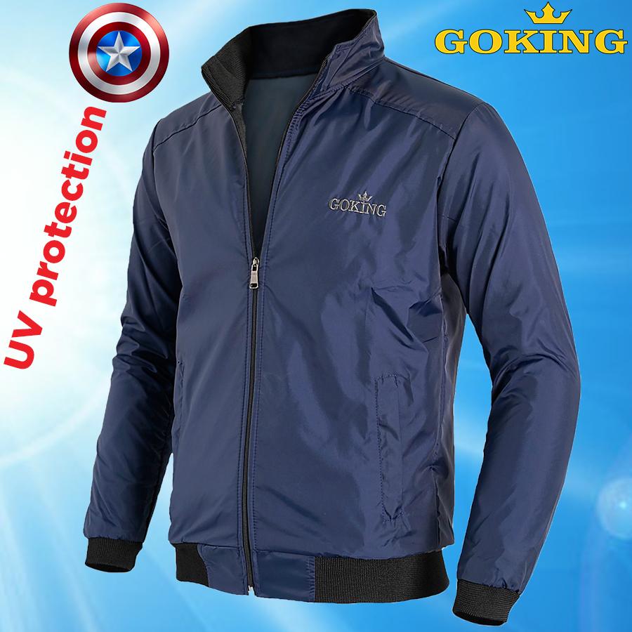 Áo khoác gió nữ cách nhiệt GOKING, ngoài vải dù, trong lót vải cào chống nóng và giữ ấm cơ thể 2
