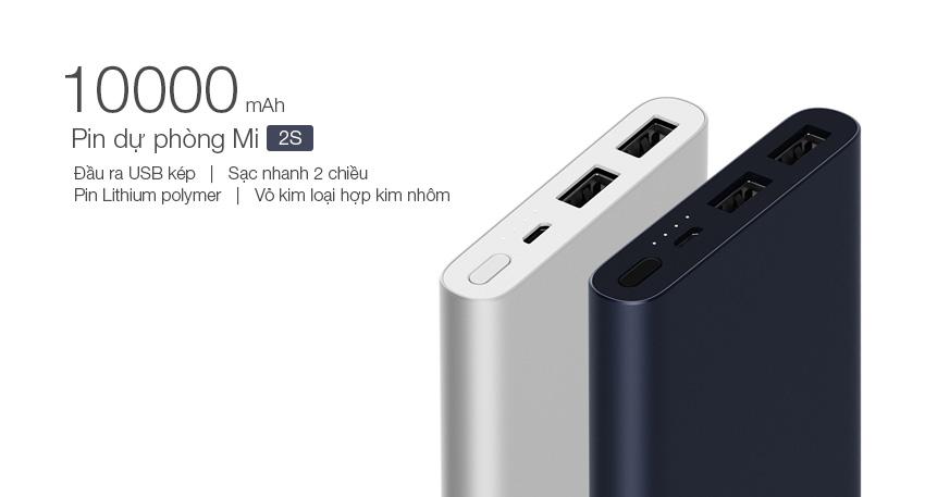 Pin Sạc Dự Phòng Xiaomi Gen 2S Version 2018 10000 mAh 2 Cổng USB Hỗ Trợ QC 3.0 PLM09ZM - Hàng Chính Hãng