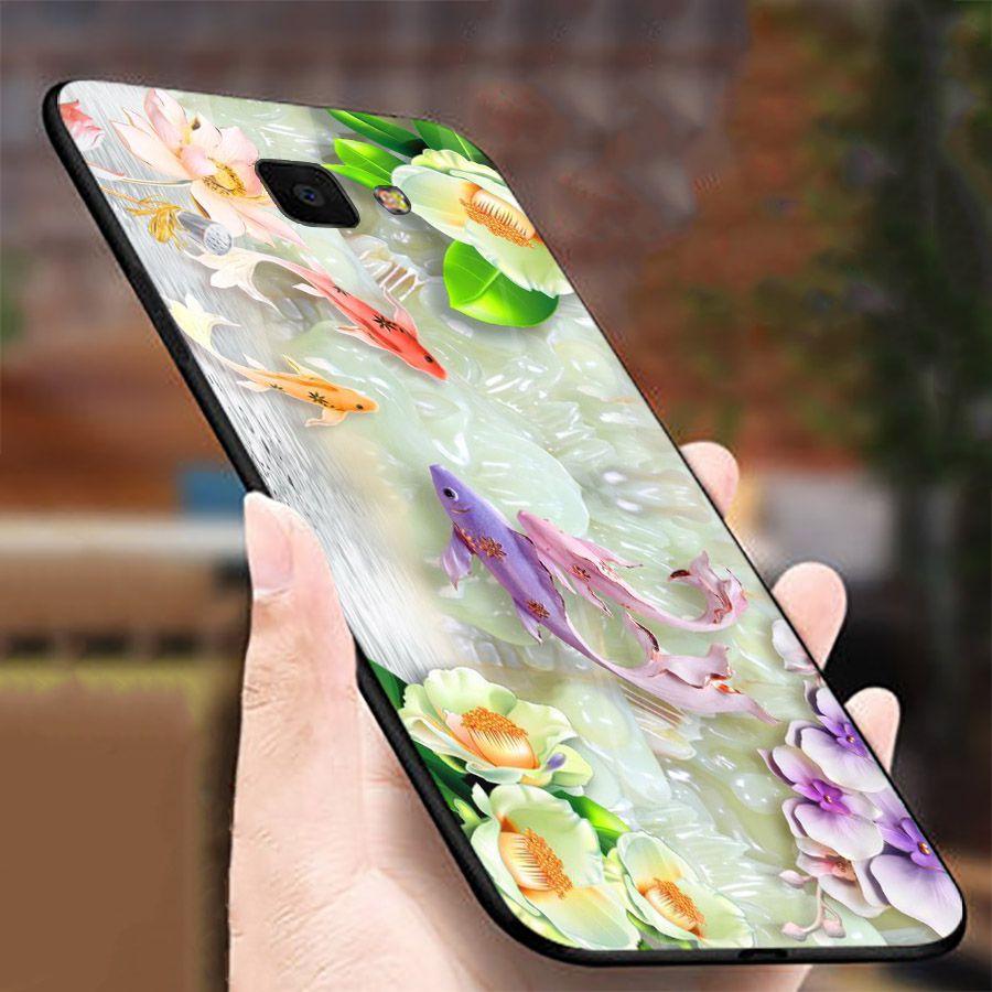 Ốp kính cường lực cho điện thoại Samsung Galaxy A7 2018/A750 - A10/M10 - A50 - A70 - bộ sưu tập cá MS CA026
