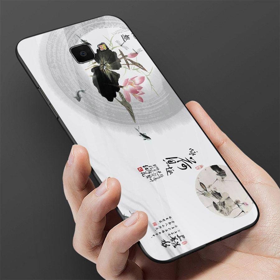 Ốp kính cường lực cho điện thoại Samsung Galaxy J7 PRIME - mẫu đơn MS MAUDON053