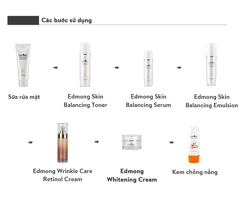 Kem dưỡng trắng da Edmong Whitening Cream 50ml 10