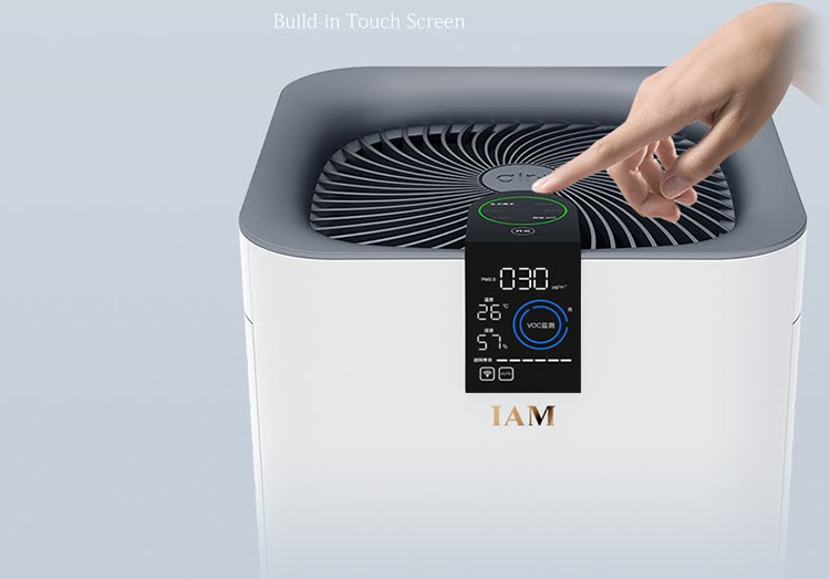 IAM air purifier in addition to formaldehyde odor haze measured CADR = 801 cubic meters / hour monitoring VOC (including formaldehyde) small Jing fish APP control KJ780F-A1