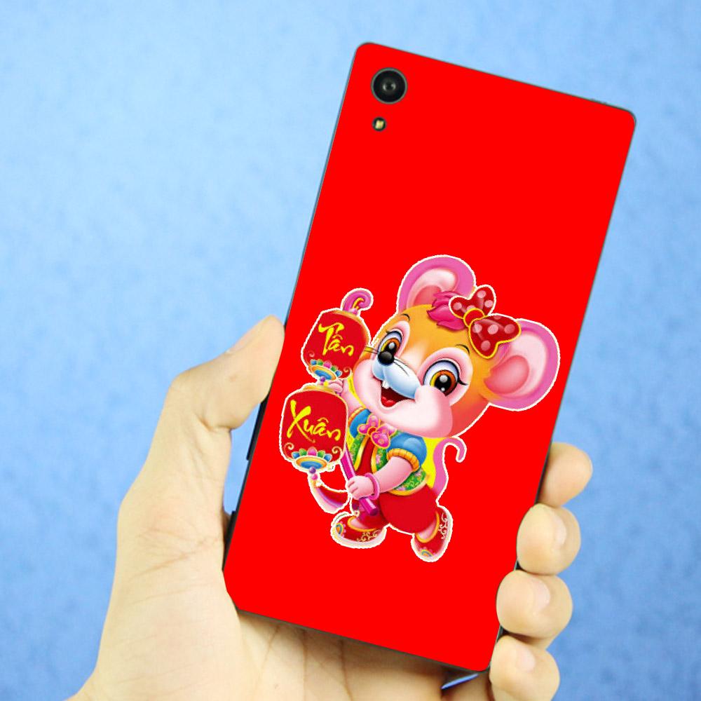 Ốp điện thoại dành cho máy Sony Xperia XA1 - Chuột chúc tết mã 02 MS CCTM02
