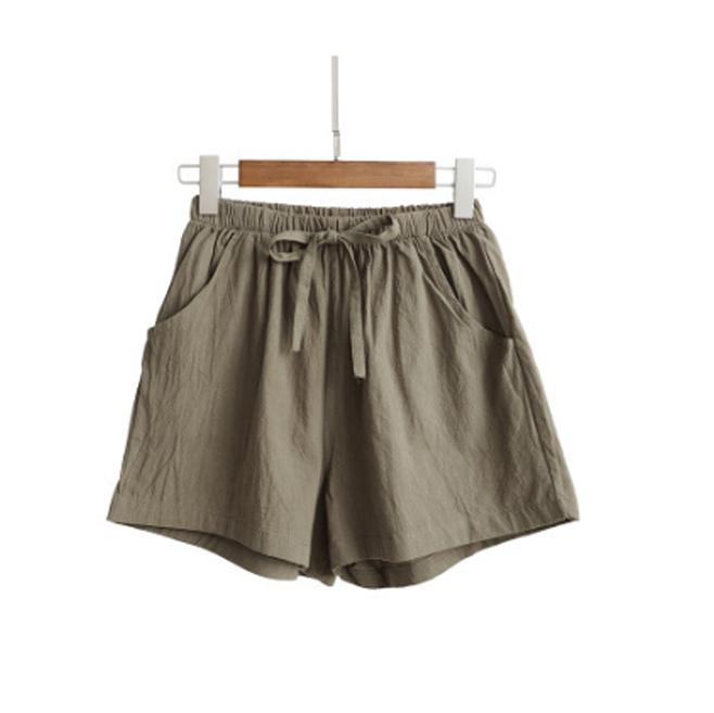 Quần đùi short nữ vải đũi thời trang mát mẻ mùa hè QĐ06 10