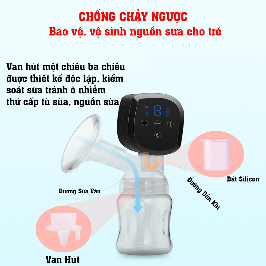 Máy hút sữa điện đơn dùng pin sạc di động cao cấp CMBEAR ZRX-0901 CHÍNH HÃNG - CMB21 5