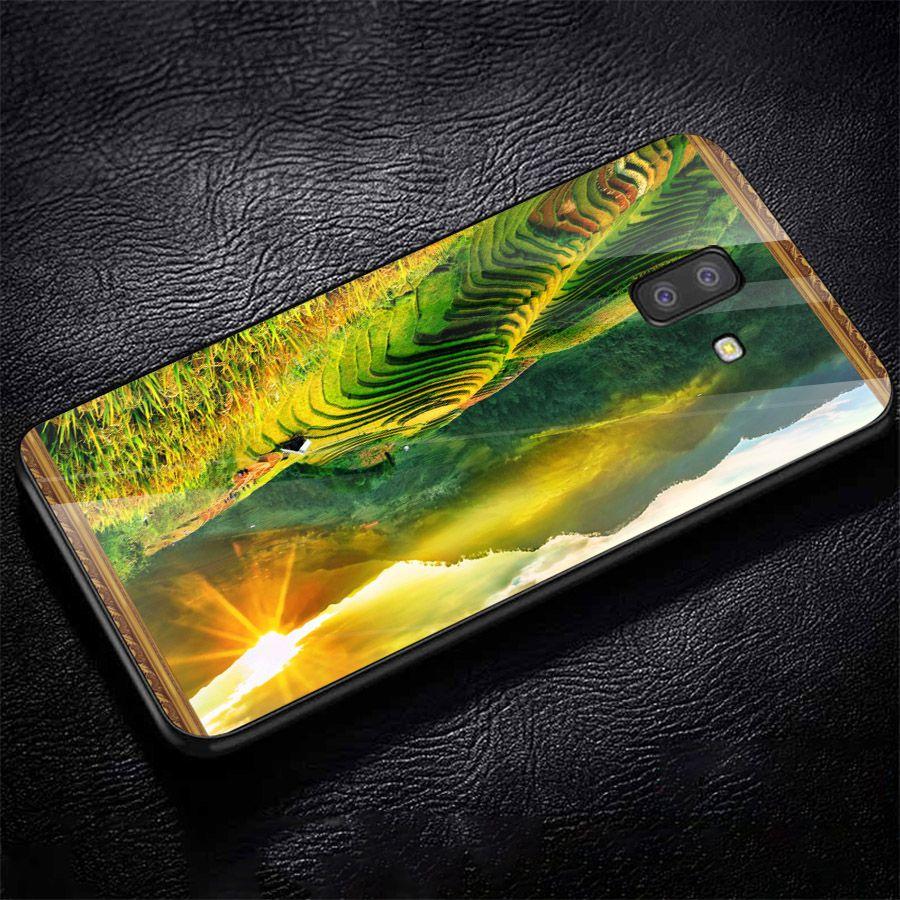 Ốp kính cường lực cho điện thoại Samsung Galaxy J6 - Quê Hương MS QHUONG016