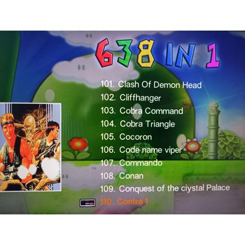 Máy Chơi Game 4K Điện Tử 4 Nút 638 Trò - Phiên Bản 2 Tay Cầm Chơi Game - Cắm Cổng HDMI - Kết Nối Không Dây (tặng chai dầu tràm hoa nén) Máy được giao theo màu ngẫu nhiên 6