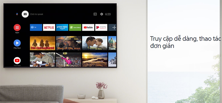 Android Tivi Sony 4K 43 inch KD-43X8050H