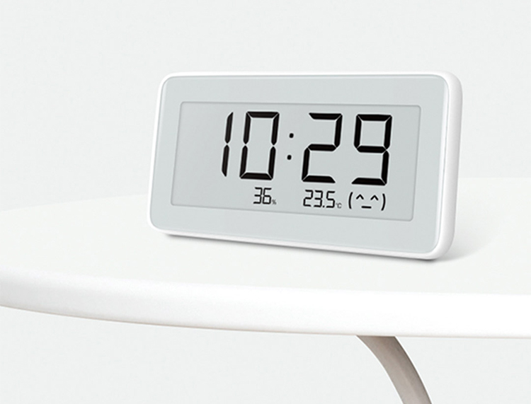 Xiaomi Mijia Smart Temperature And Humidity Monitoring Electronic Digital Watch INK Screen Humidity Thermometer For Mihome APP