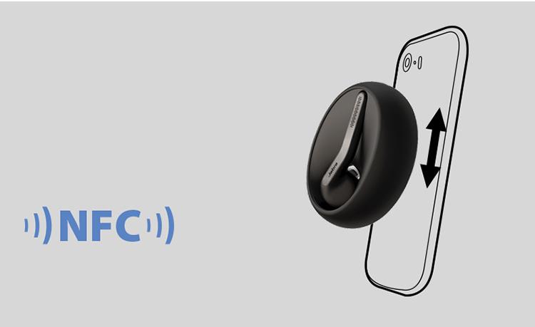 Jabra ECLIPSE One Stone Smart Business Call Bluetooth Headset Universal Earbud Black