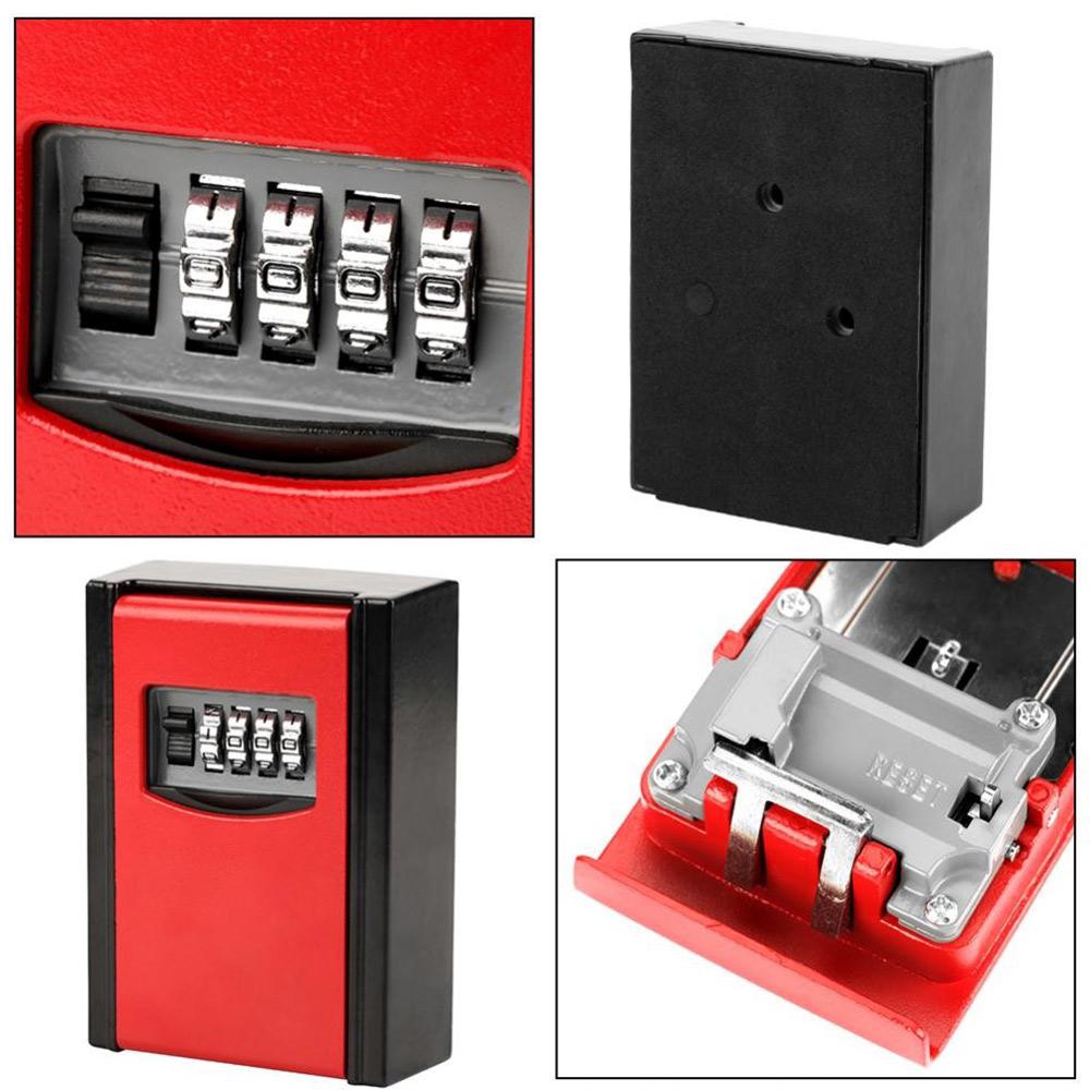Password Key Box Safety Lock Box Creative Aluminium Alloy 4 Digit Code Pet Sitters