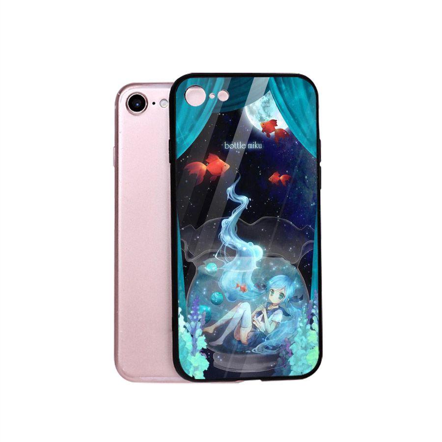 Ốp điện thoại kính cường lực cho máy iPhone 5/5s/se - Cô Bé Trong Chiếc Lọ Thủy MS CBTCL020