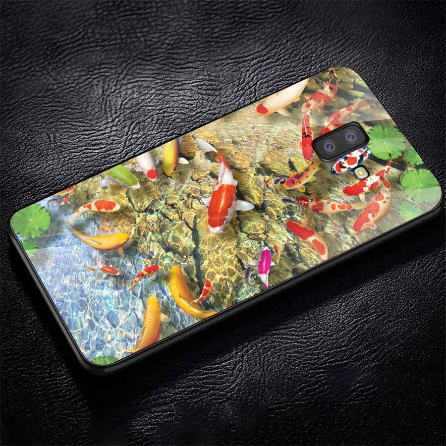 Ốp kính cường lực cho điện thoại Samsung Galaxy J4 - J6 - J6 PLUS - J6 PRIME - J8 - cá chép MS CA007