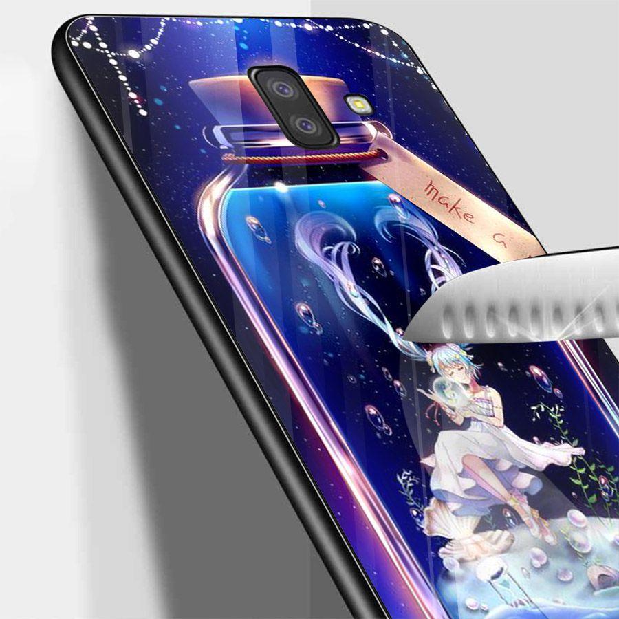 Ốp kính cường lực cho điện thoại Samsung Galaxy J6 - Cô Bé Trong Chiếc Lọ Thủy MS CBTCL049