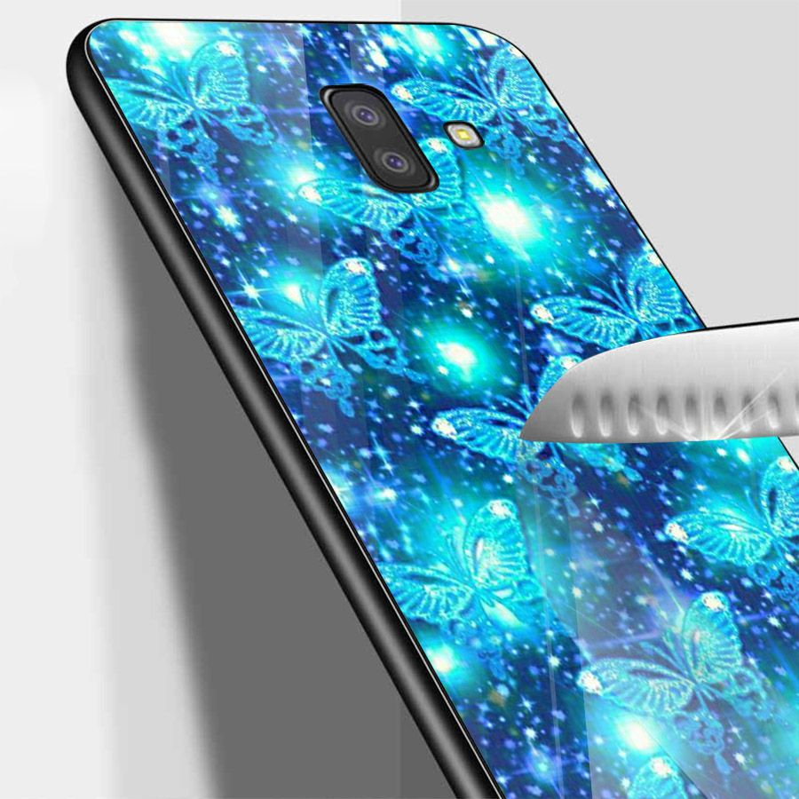 Ốp kính cường lực cho điện thoại Samsung Galaxy J4 - J6 - J6 PLUS - J6 PRIME - J8 - bướm đẹp MS ANH076