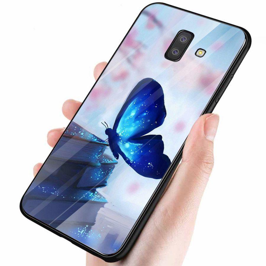 Ốp kính cường lực cho điện thoại Samsung Galaxy J6 PRIME - bướm đẹp MS BUOMD029