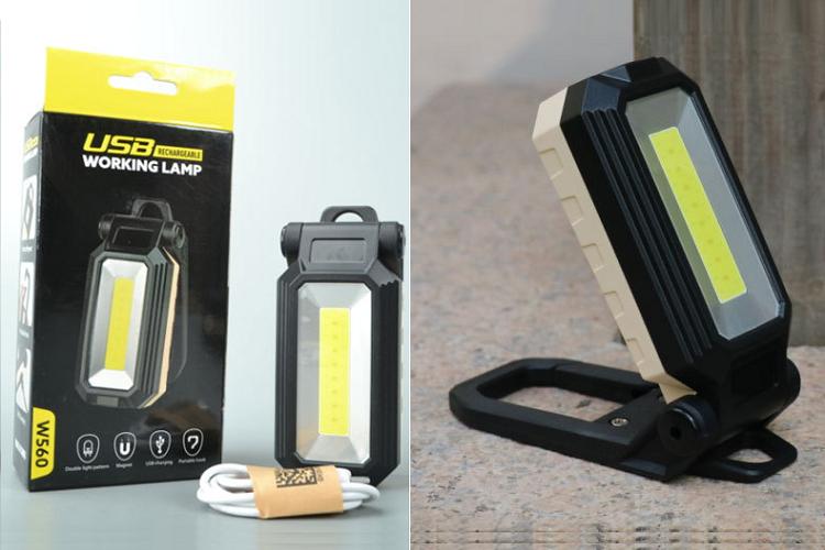 Đèn led cắm trại sạc điện W560COB (Tặng kèm miếng thép đa năng 11in1) 1