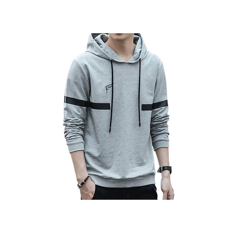 Áo len hoodie Playboy nam 2018 xu hướng thu đông hàn quốc Men SYZ8738 GRAY L