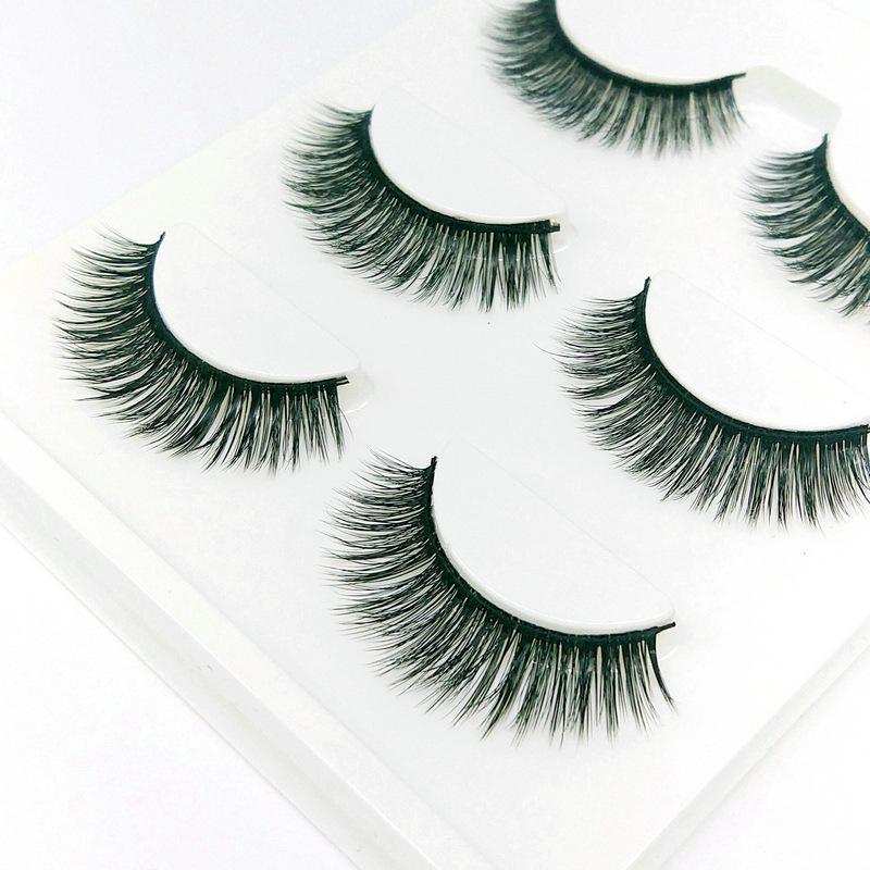 Lông mi giả lông chồn 3 Fashion Eyelashes 3 Faux-Cils 3D 1 bộ 3 cặp 12