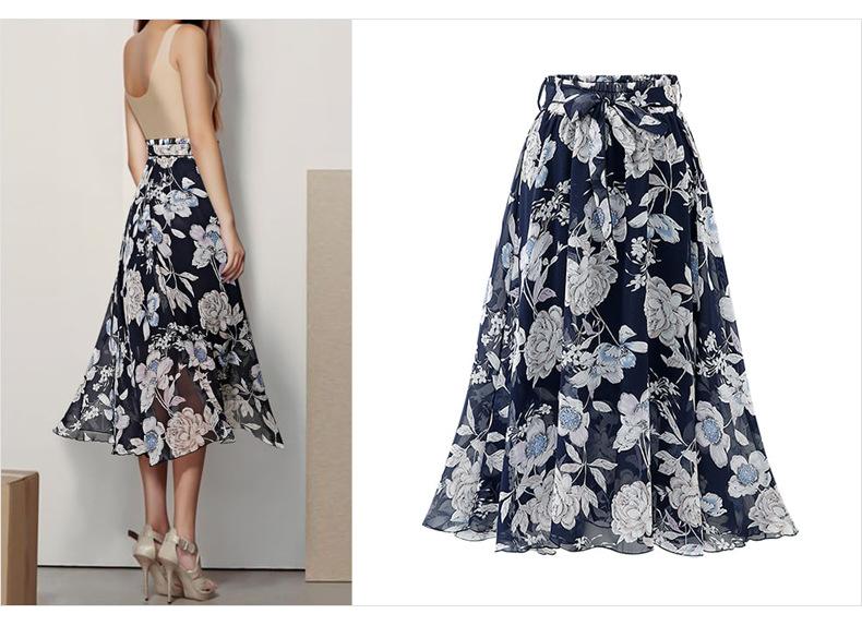 Chân váy voan mềm tung bay phong cách Vintage Châu Âu VAY66 free size 1
