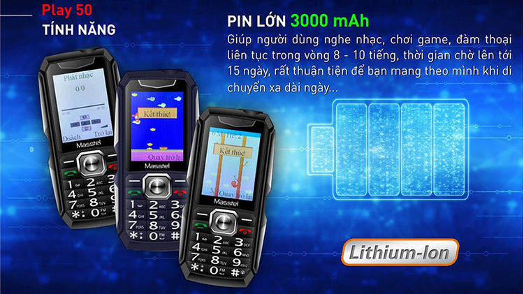 Điện thoại Masstel Play 50 - Hàng Chính Hãng