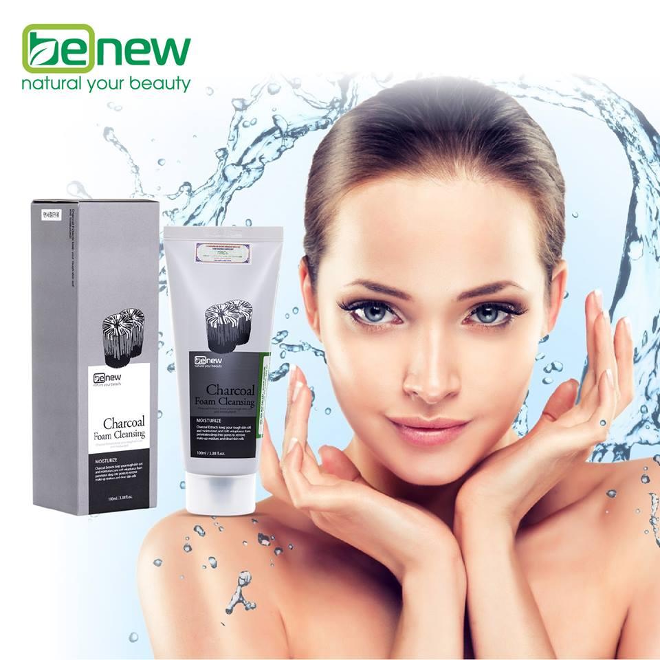 Combo Sữa rửa mặt Benew Charcoal+Benew Mask Green Tea