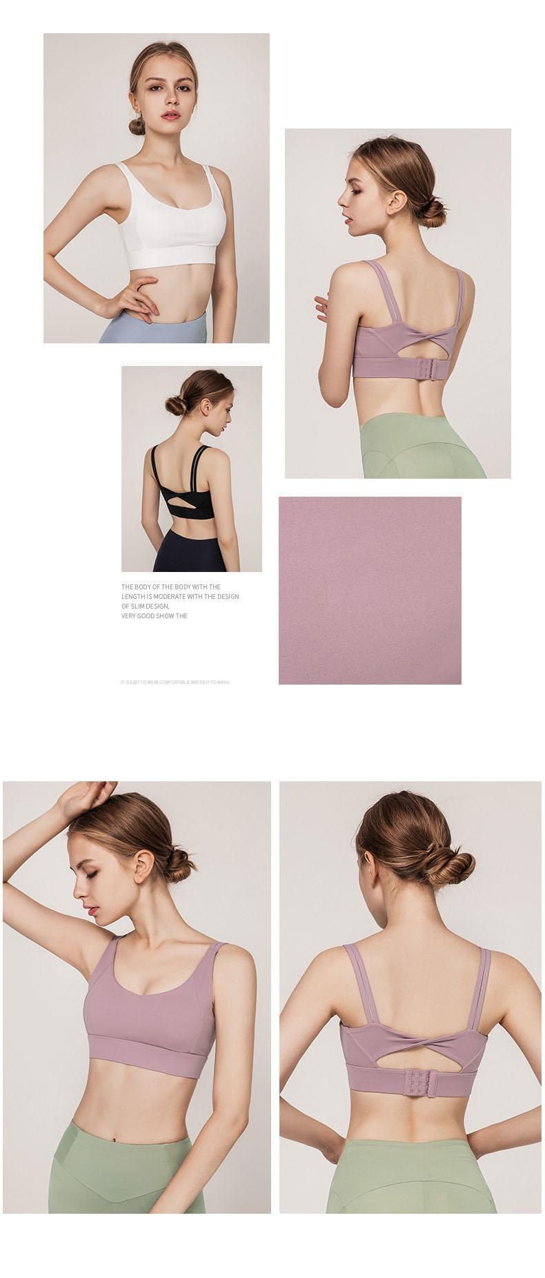 Áo Bra thể thao nữ, áo tập Gym Yoga mềm mịn, có đệm, kiểu áo lót mỏng mã WX-042 17