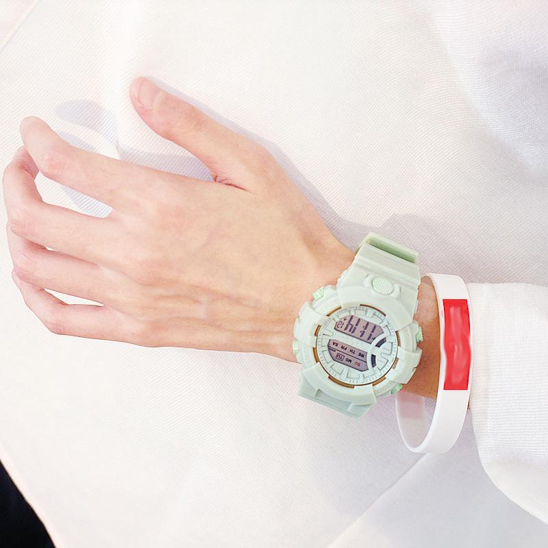 Đồng hồ điện tử nam và nữ KASAWI k562 Sports Đồng hồ Học sinh trung học cơ sở Hàn Quốc thể thao chống thấm nước- xem giờ điện tử - báo thức - bấm giờ thể thao - xem lịch ngày tháng thứ - Dây Silicone Bền Chắc 14