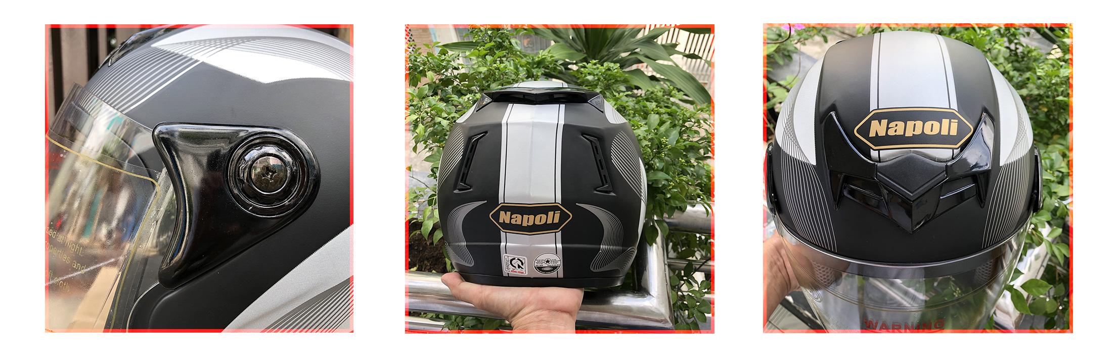 Mũ Bảo Hiểm Napoli 3/4 Đầu Tem Sóng Gió - HD001=219.000đ
