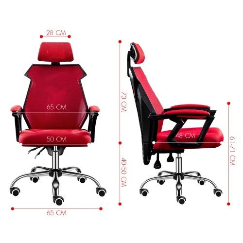 Ghế chơi game cao cấp, chân xoay ngã 135 độ dành cho game thủ có gối tựa đầu mẫu E03 Thái Lan (Hàng nhập khẩu) 10