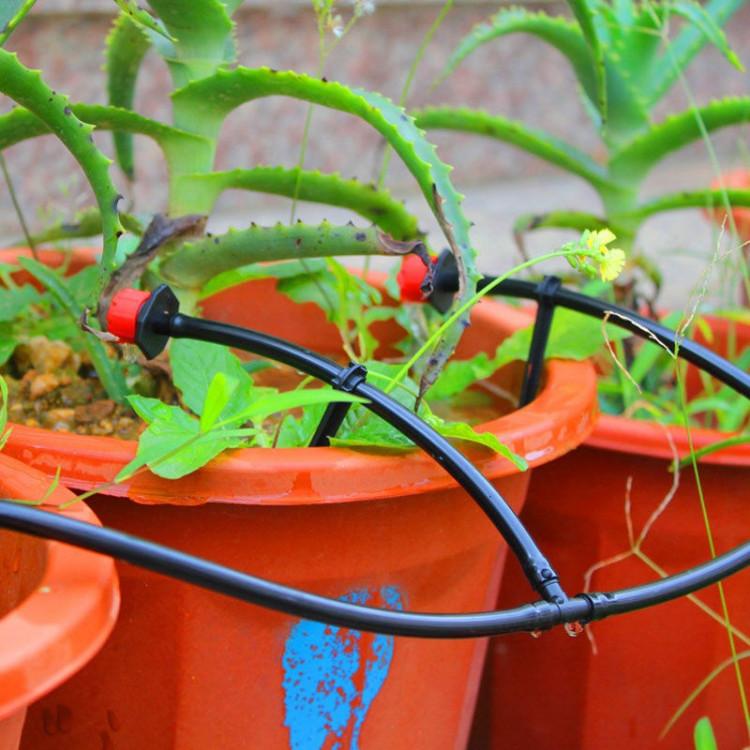 Bộ tưới cây tự động 20 đầu cắm phun 8 tia kèm van nước hẹn giờ 2