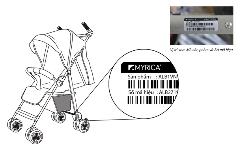 Xe đẩy trẻ em đa năng gọn nhẹ Thời trang cho bé Màu xanh mint 15