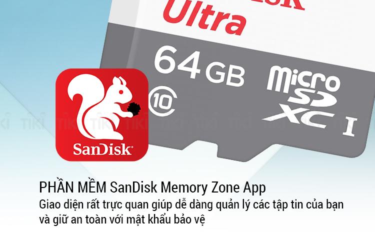 Thẻ Nhớ microSDXC SanDisk Ultra 64GB UHS-I - 80MB/s