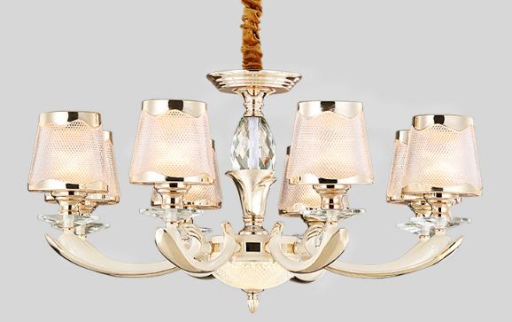 NVC chandelier light luxury European chandelier American chandelier porcelain white paint living room lamp dining room lamp lighting lighting 6 head light source for 10-25m2