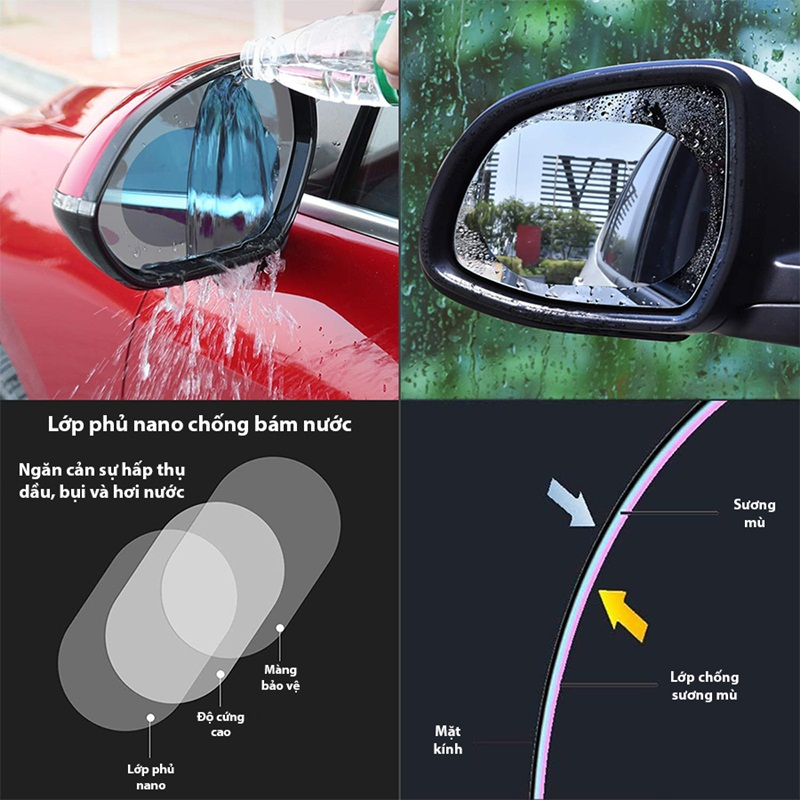 Miếng dán chống nước gương chiếu hậu xe hơi=79.000 ₫