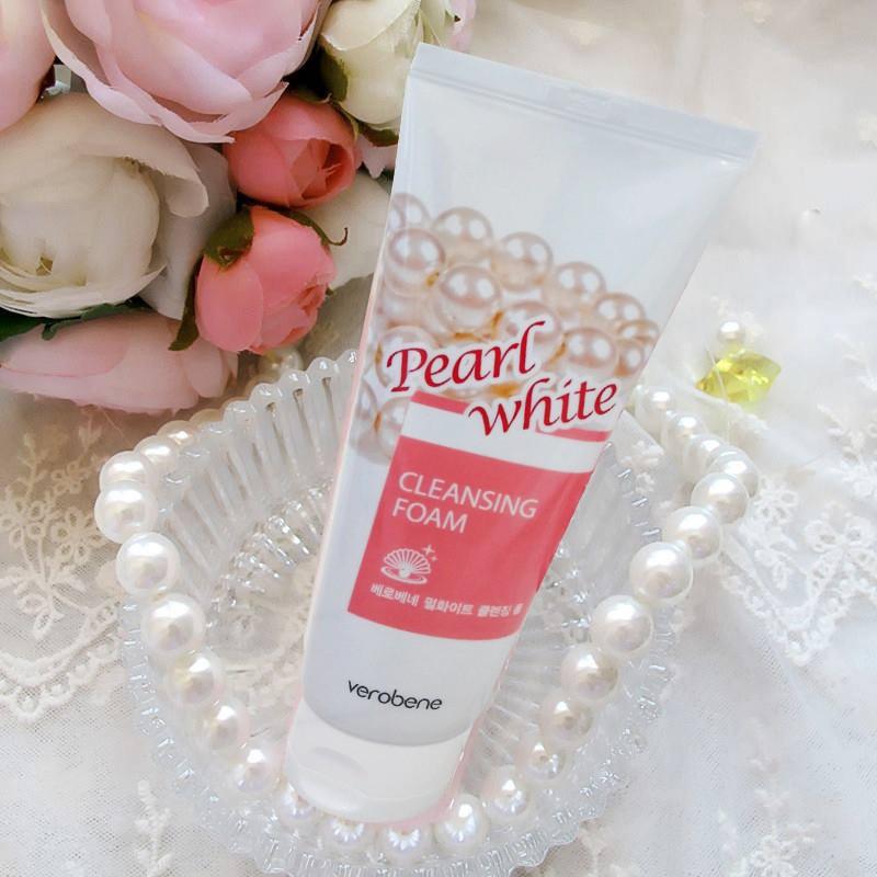 Sữa rửa mặt ngọc trai trắng da, dưỡng ẩm Verobene Hàn quốc 150ml Hộp- Hàng Chính Hãng 2