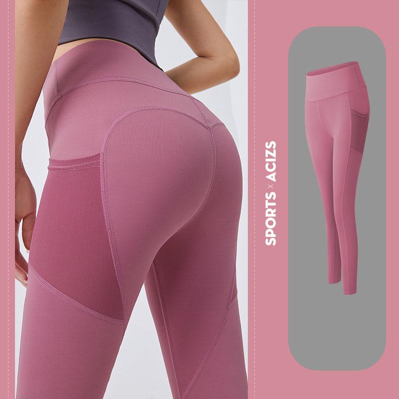 Quần thể thao nữ quần legging co giãn nhanh khô, túi hai bên phối lưới, quần yoga chạy bộ mã MTCK9016 13