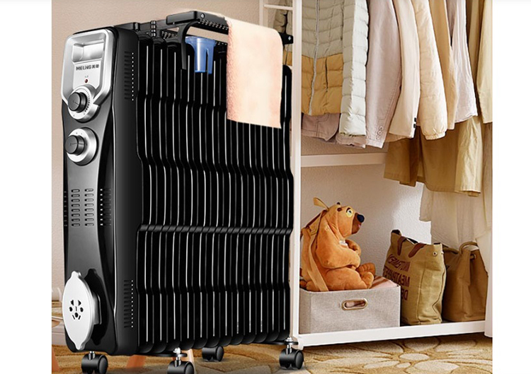 Meiling (MeiLing) heater home / electric heater / radiator / electric oil Ting with drying rack MDN-RY131A