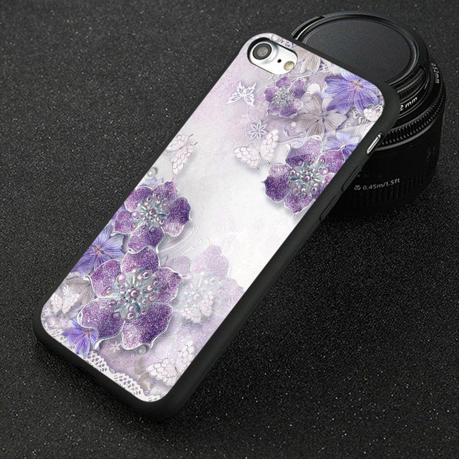 Ốp điện thoại kính cường lực cho máy iPhone 6 / 6S - ngọc hoa MS NGHOA017
