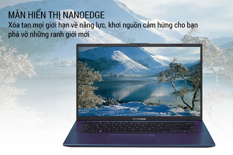 Laptop Asus Vivobook A412FA-EK287T Core i3-8145U/ Win10 (14 FHD) - Hàng Chính Hãng