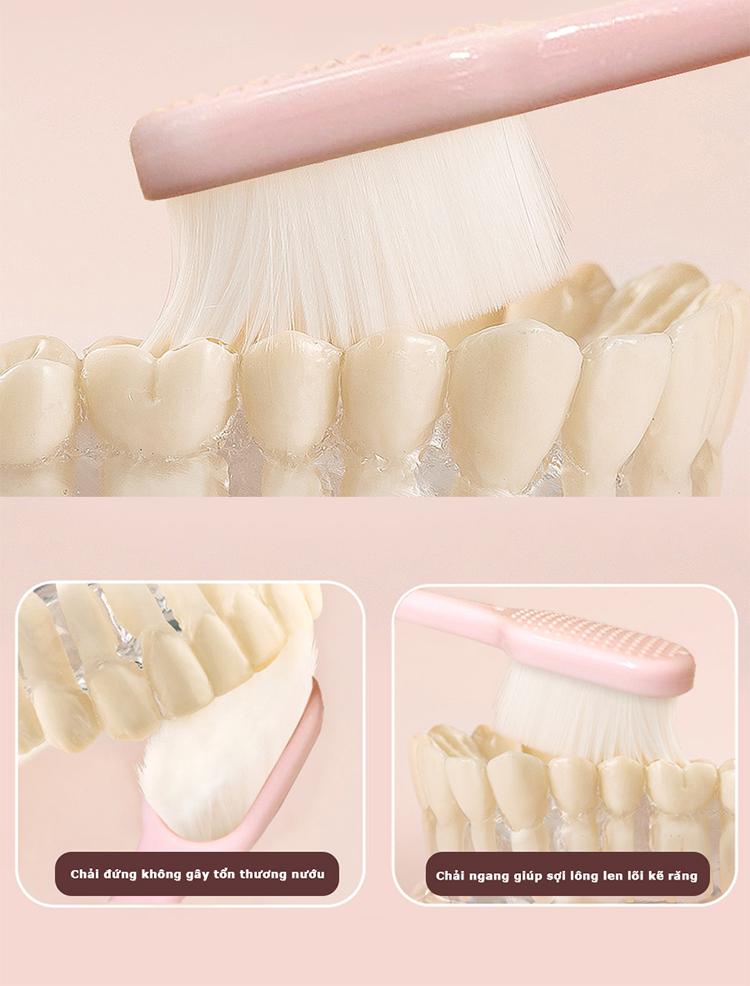 Bàn Chải Đánh Răng Anriea Black Tooth Whitening - 30 Minutes Express (Màu Ngẫu Nhiên)