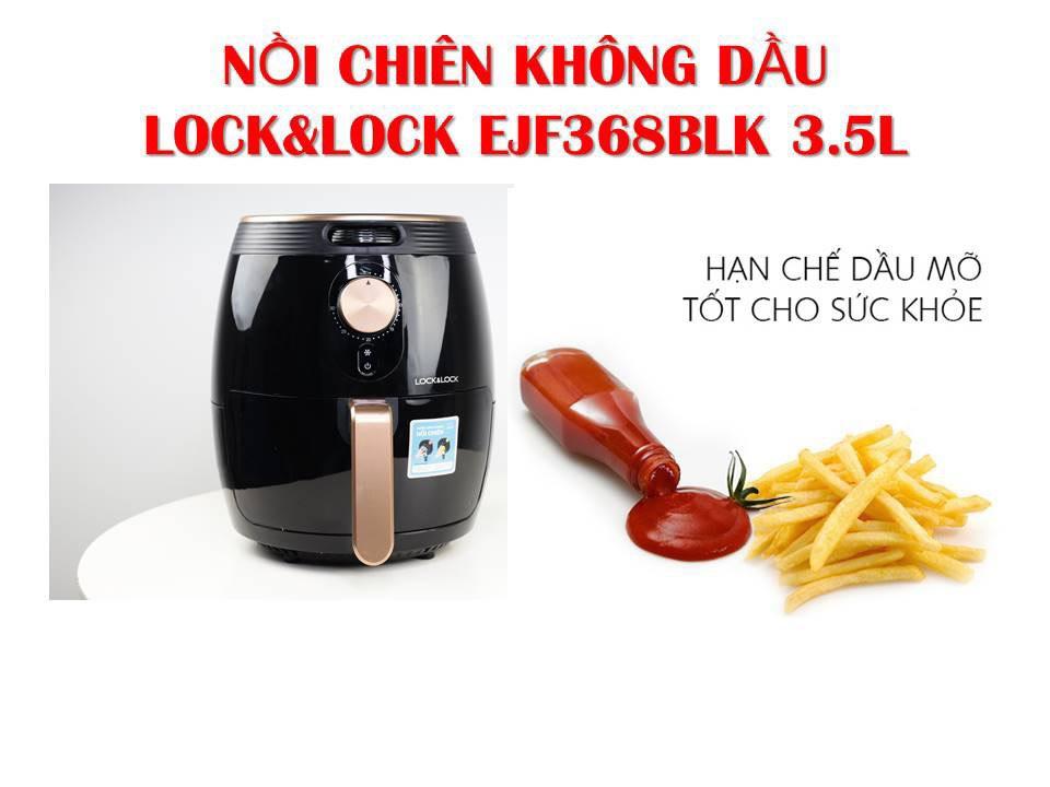 NỒI CHIÊN KHÔNG DẦU LOCK&LOCK 3.5L EJF368BLK (HÀNG CHÍNH HÃNG) = 1.385.000đ
