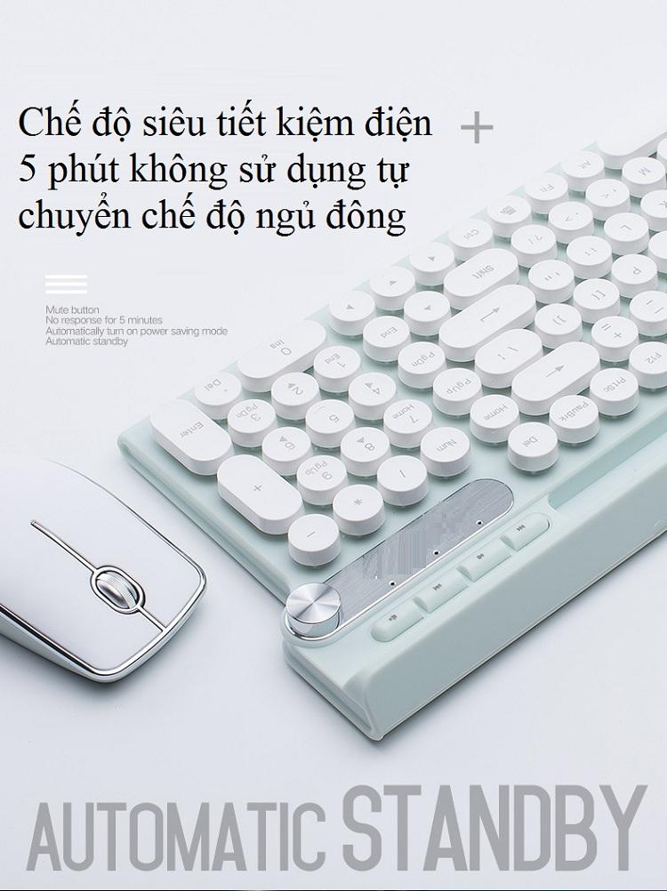 Bộ bàn phím và chuột không dây cao cấp -500 16
