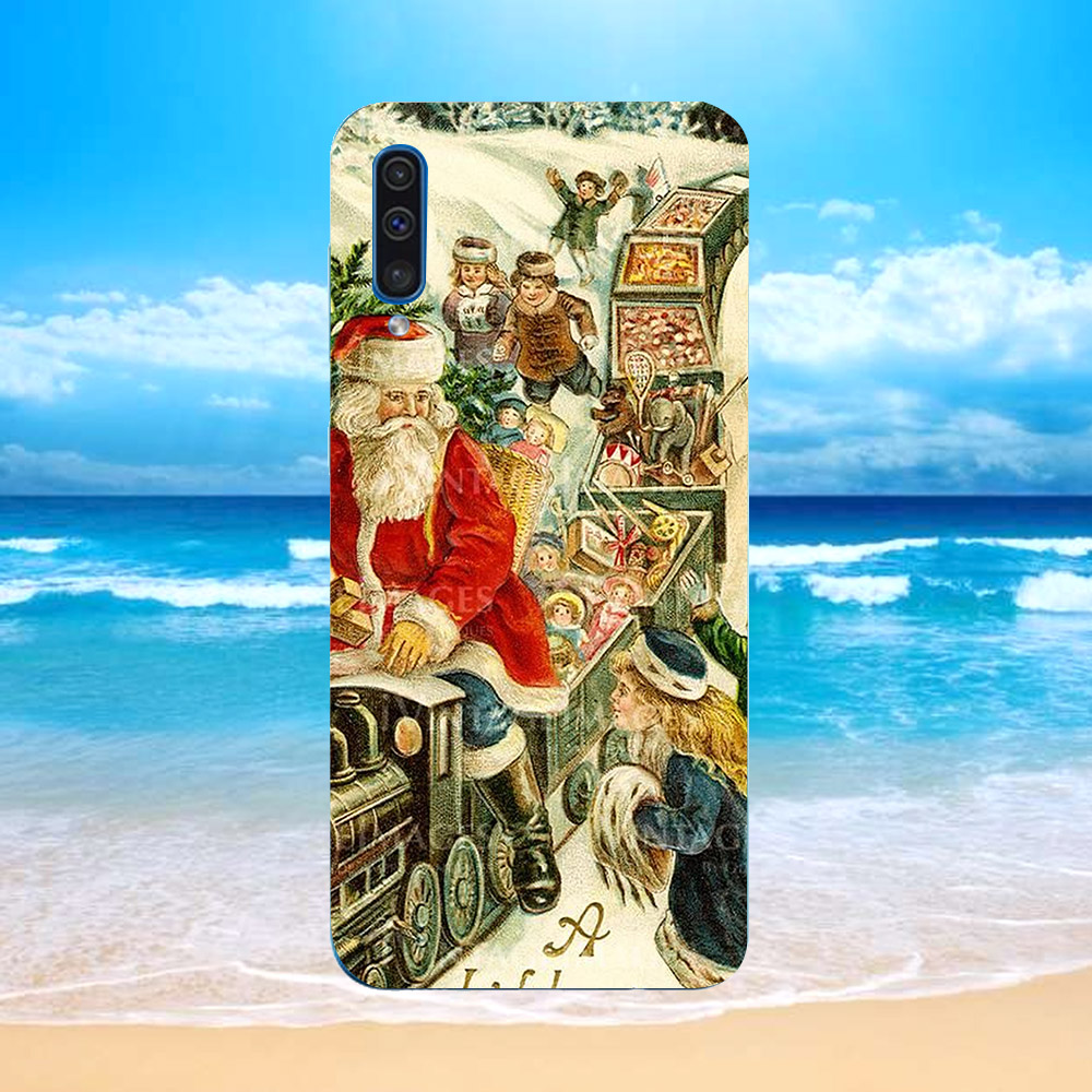 Ốp lưng cứng viền dẻo dành cho điện thoại Samsung Galaxy M30 - giáng sinh đầm ấm MS GSDA013